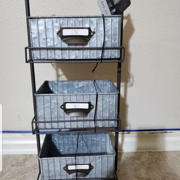 Rae Dunn Galvanized 3 shelf organizer